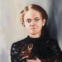 Black lace, 2016, oil on mdf-board, 80 x 70 cm