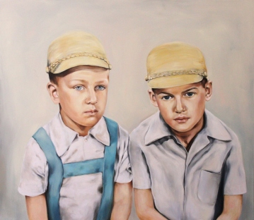 Brothers, 2016, oil on mdf-board , 100 x 115 cm