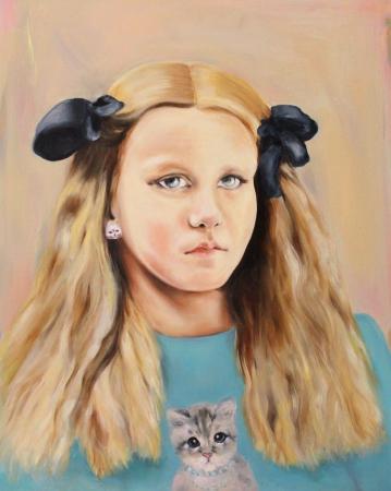 Dolores, 2016, oil on mdf-board, 60 x 48 cm