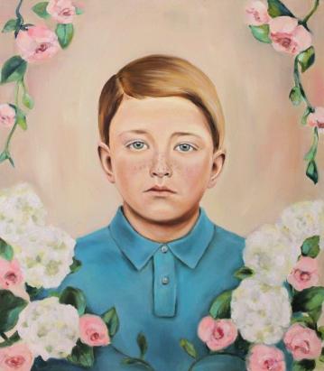 Flowerboy, 2016, oil on mdf-board , 57 x 50 cm