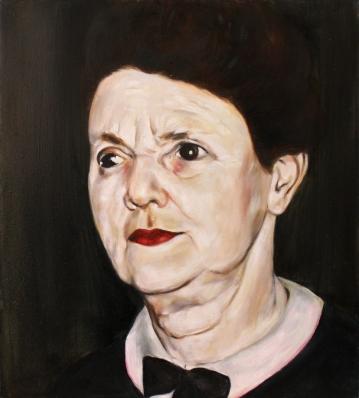 Agatha, 2017, oil on mdf-board, 44 x 40 cm