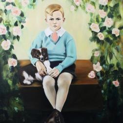 Boyhood, 2017, oil on mdf-board , 115 x 100 cm