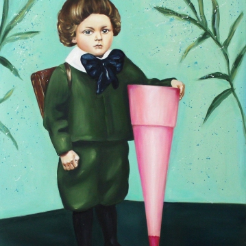 Leopoldo, 2017, oil on mdf-board, 80 x 60 cm