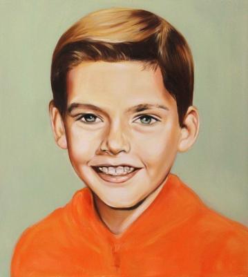Sam, 2017, oil on mdf-board , 44 x 40 cm
