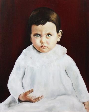 Toddler, 2017, oil on mdf- board, 50 x 44 cm