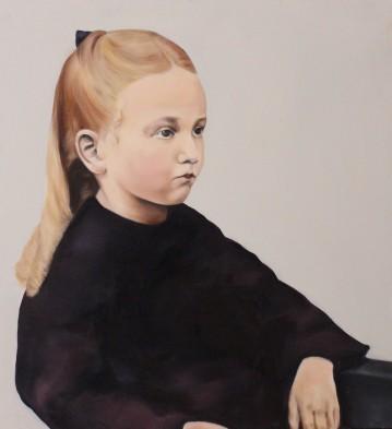 Hilda, 2015, oil on mdf-board, 55 x 50 cm