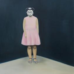 Mary 2014, oil on mdf-board, 100 x 90 cm
