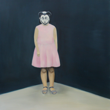 Mary 2014, oil on mdf-board, 100 x 90 cm