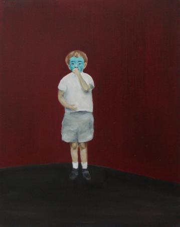 Matteo, 2014, oil on mdf-board, 50 x 44 cm