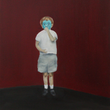 Matteo, 2014, oil on mdf-board, 50 x 44 cm