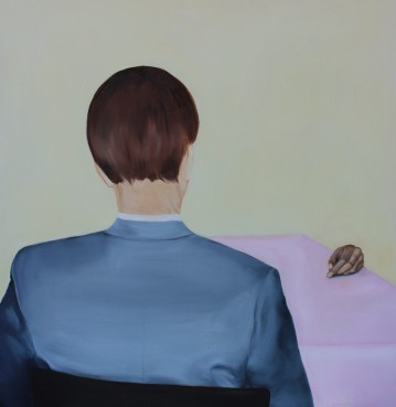 Time for tea, 2014, oil on mdf-board, 79 x 78 cm