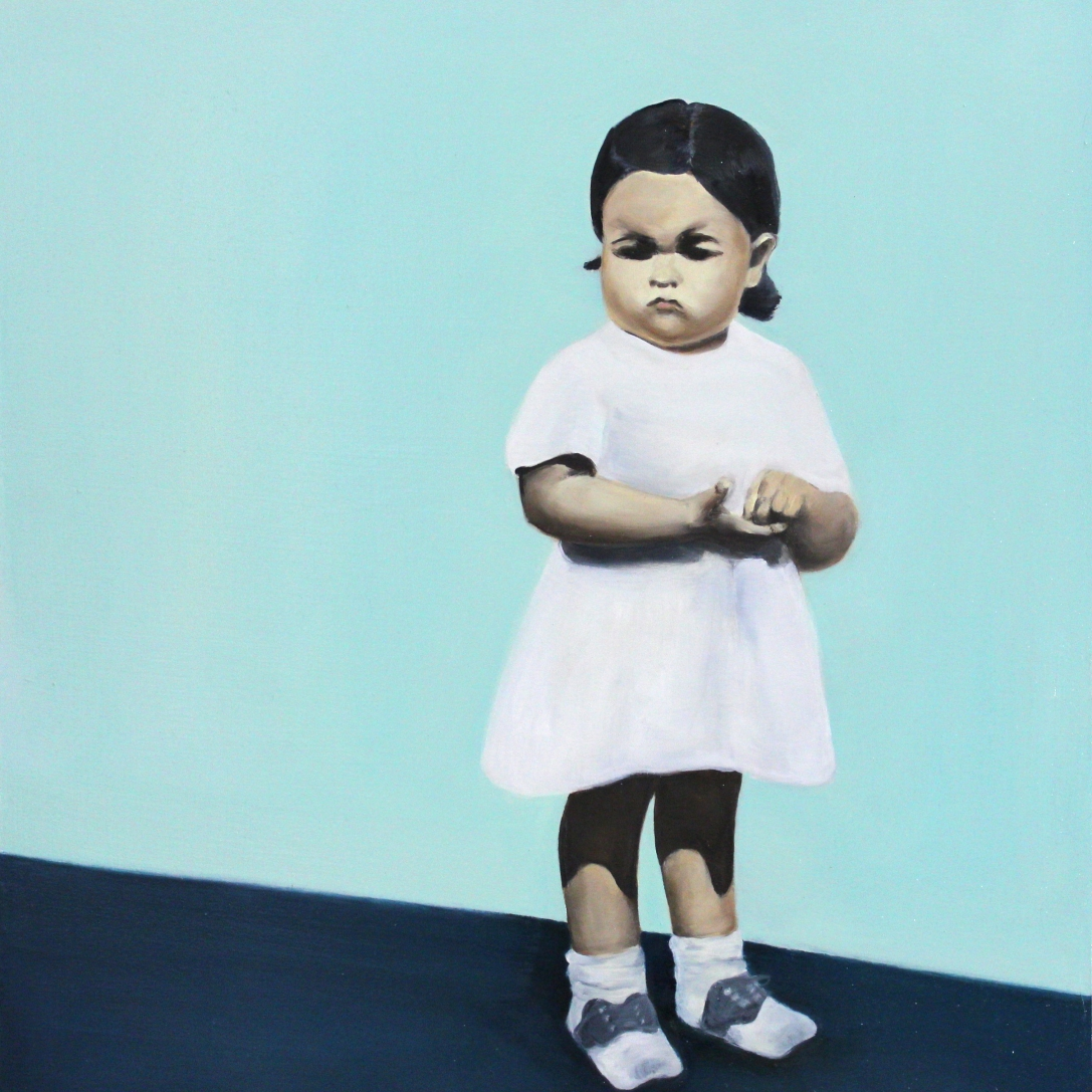 Not today, 2014, oil on mdf-board, 65 x 52 cm