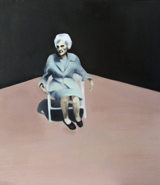 Thousand boring days, 2014, oil on mdf-board, 50 x 40 cm