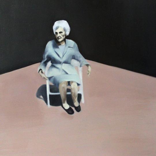 Thousand boring days, 2014, oil on mdf-board, 50 x 40 cm