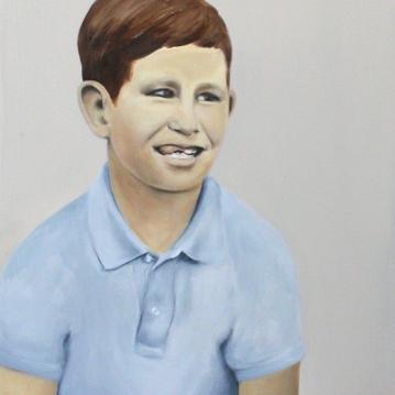 Jimmy was a friend of mine, 2015, oil on mdf-board, 50 x 44 cm