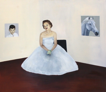 Her day was mine, 2015, oil on mdf-board, 130 x 150 cm