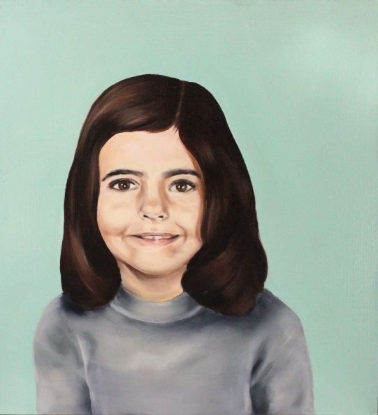 Anna, 2015, oil on mdf-board, 44 x 40 cm