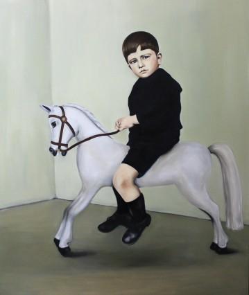 American prince, 2015, oil on mdf-board, 130 x 110 cm
