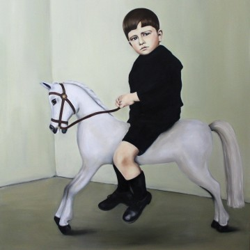 American prince, 2015, oil on mdf-board, 130 x 110 cm