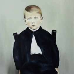 Theo, 2015, oil on mdf-board, 60 x 55 cm