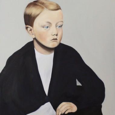 Anton, 2015, oil on mdf-board, 55 x 48 cm