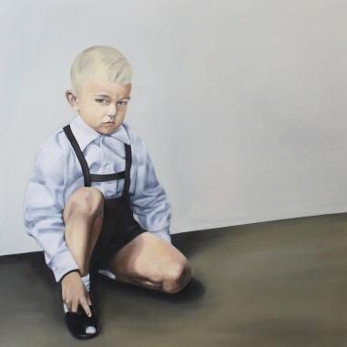 Sebastian, 2015, oil on mdf-board, 100 x 90 cm