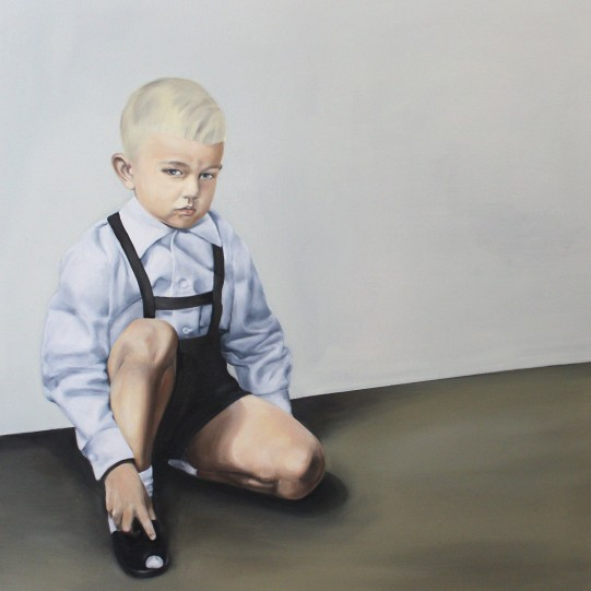 Sebastian, 2015, oil on mdf-board, 100 x 90 cm