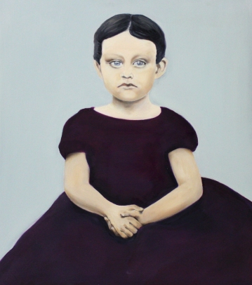 Alma, 2014, oil on mdf-board, 55 x 50 cm