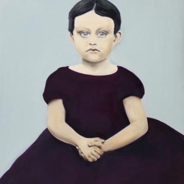 Alma, 2014, oil on mdf-board, 55 x 50 cm