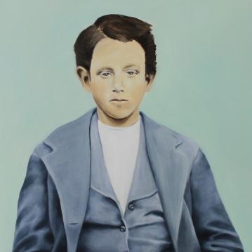 Velvet sigh, 2014, oil on mdf-board, 61 x 55 cm